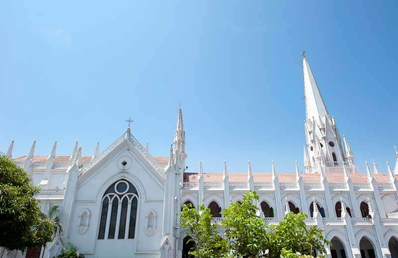St. Thomas kathedraal in Chennai<br>