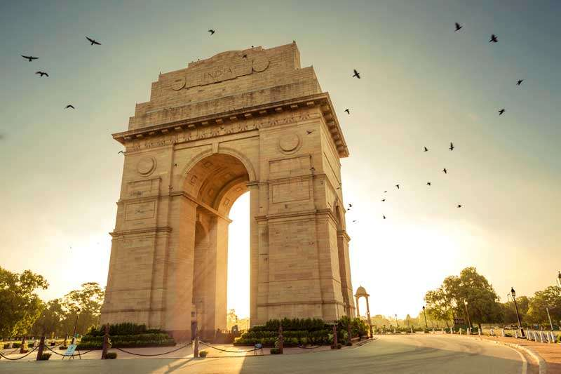 De India Gate in Delhi<br>